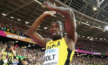 """อำลาลู่ไม่สวย! """"โบลต์"""" เข้าที่ 3 วิ่ง 100 เมตร ชิงแชมป์โลก (คลิป)"""