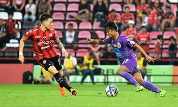 """ผลบอล : """"สิงห์เจ้าท่า"""" บุกอัด """"กิเลนผยอง"""" นิ่ม 2-0 กระโดดรั้งจ่าฝูงไทยลีก"""