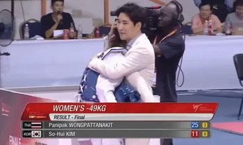 คลิปสุดเฉียบ! พาณิภัค ล้มสาวเกาหลีผงาดแชมป์เวิลด์กรังด์ปรีซ์ ไฟน่อล คนแรกของไทย