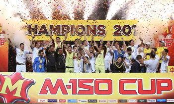 """""""อุซเบฯ"""" แม่นโทษทุบ """"ญี่ปุ่น"""" 6-5 (2-2) ซิวแชมป์ M-150 Cup 2017"""