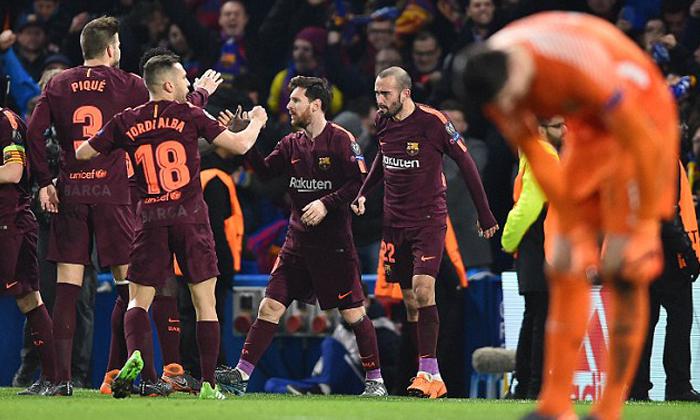 """ผลบอล : """"เมสซี่"""" ปลดล็อก! """"บาร์เซโลน่า"""" ไล่เจ๊า """"เชลซี"""" 1-1 (คลิป)"""