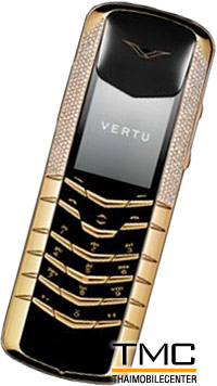 Vertu Signature Yellow Gold Half Pave Diamonds