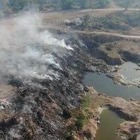 ไฟไหม้บ่อขยะนานกว่า 30  ชั่วโมง