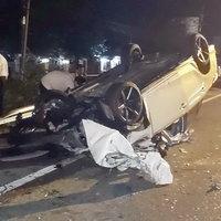 คนขับหลับในเสียหลักรถคว่ำ