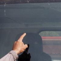 โดนใบสั่งข้อหากระจกหน้ารถร้าว