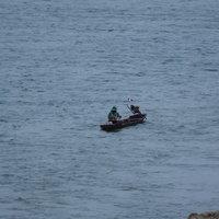 หนองคายอุณหภูมิลดฮวบ มีคลื่นลมแรงในแม่น้ำโขง กระทบชาวบ้านจับปลา