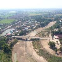 แม่น้ำยมแห้งเหลือน้ำเป็นบ่อลึกสุดท้ายของหมู่บ้าน