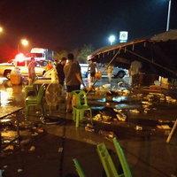 """พายุฤดูร้อนถล่ม """"สิงห์บุรี"""" 2 อำเภอ บ้านเรือนเสียหายรวมกว่า 300 หลัง"""