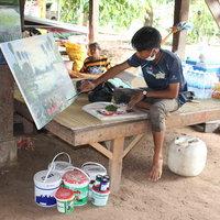 น้องเอิร์ธเด็กยอดกตัญู วาดภาพหาเงินเรียน สร้างอาศรมศิลป์