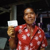หลานชายบอกเลขใต้ท้องคางคก ลุงเฮงถูกรางวัลที่ 1 รับ 6,000,000
