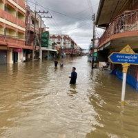 น้ำท่วมอรัญประเทศยังทรงตัว สูงสุดเกือบ 2 เมตร
