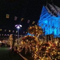 ความสวยงามของพระอุโบสถยามค่ำคืน วัดดอนใหญ่