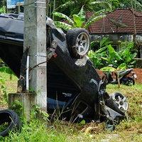 ไม่เหยียบหมา! คนขับรถยนต์ถูกสุนัขวิ่งตัดหน้า หักหลบพลิกคว่ำเจ็บ 3 ราย
