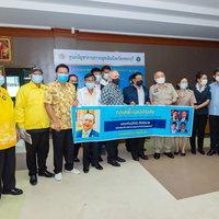"""""""กลุ่มเพื่อนเฉลิมชัย"""" ร่วมด้วยช่วยเพชรบุรีมอบเงินสนับสนุนโรงพยาบาลสนาม 2แสนบาท"""