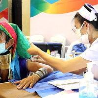 กะเหรี่ยงคอยาวแห่วัคซีน พร้อมรับการท่องเที่ยว