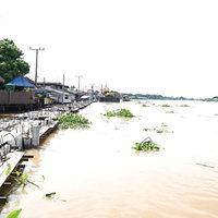 รัฐมนตรีเกษตรฯ ติดตามสถานการณ์น้ำบริเวณพื้นที่ลุ่มต่ำนอกแนวคันกั้นน้ำ แม่น้ำเจ้าพระยา