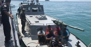 ลอบทำประมงผิดกฎหมาย! ทหารเรือจับเรือประมงสัญชาติมาเลเซียรุกล้ำน่านน้ำ