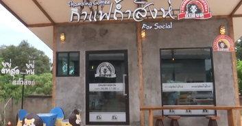 ของดีตำบลถ้ำสิงห์ คอกาแฟ แห่เดินทางมาชุมพร ดื่มกาแฟโรบัสต้า 100%