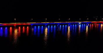 """ปิ๊งไอเดียศิวิไล """"สะพานเทพสุดา"""" สวยงามตระการตา หลังทางหลวงชนบทกาฬสินธุ์เข้าประดับไฟ"""