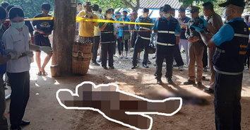 หนุ่มใหญ่แทงคนตาย ก่อนถือมีดไปมอบตัว