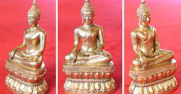 หาชมยาก! พระพุทธรูปทองคำสมัยสุโขทัย ที่งานลอยกระทงวัดโบสถ์ท่าช้าง สิงห์บุรี