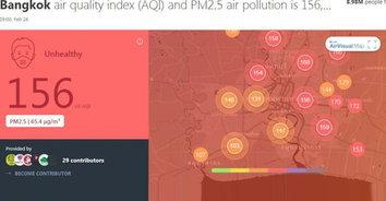 เชียงใหม่วิกฤติ! ค่าฝุ่นละออง PM2.5 พุ่งสูงติดอันดับ 5 ของโลก
