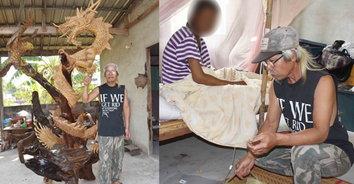 ชีวิตต้องสู้! หนุ่มสร้างหุ่นมังกรทอง หาเงินรักษาเมียป่วยติดเตียง