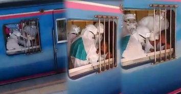 ผวาทั้งขบวน! สาวใหญ่บ้วนน้ำลายบนรถไฟ วัดอุณหภูมิได้ 37.5 องศาฯ