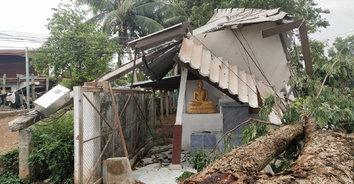 เดชพายุฤดูร้อน! ถล่มบ้านเรือนประชาชนพังเสียหายหลายหลัง