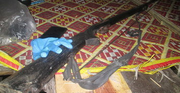 ดวงถึงฆาต! หนุ่มเซียนล่านกบรรจุปืนแก๊ป เกิดลั่นดับคากระท่อมปลายนา