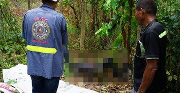 หนุ่มซ้อมเมียเจ็บสาหัส ก่อนจะหลบหนี สุดท้ายพบเป็นศพกลางป่า