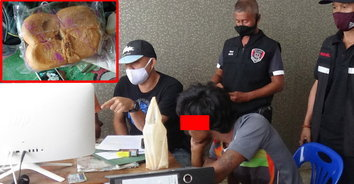 รวบหนุ่มส่งยาบ้ายัดขนมปังให้ผู้กักตัวโควิด หลังกบดานในเรือประมง