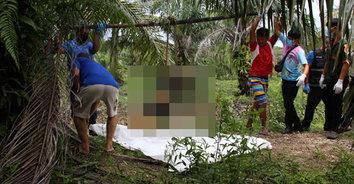 พบศพสาวปูเปรี้ยวถูกทุบหัวฆ่ารัดคอ หมกศพทิ้งในร่องน้ำสวนปาล์มน้ำมัน