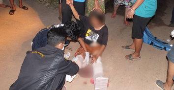 ผัวโหดกินเหล้าเมาเป็นอาจิน เมียออกมาเตือนถูกยิงสวนบาดเจ็บสาหัส