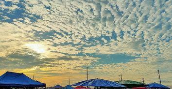 เมฆลายสวย ปรากฎการณ์ฟ้าหลังฝน สวยตระการตา