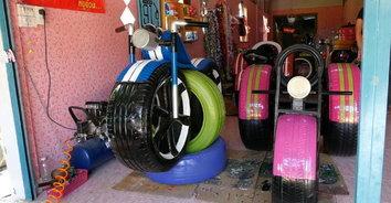 พลิกวิกฤตเป็นโอกาส! หนุ่มโรงงานเจอพิษโควิด ผุดไอเดียประดิษฐ์รถจักรยานยนต์บิ๊กไบค์