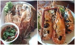 รีวิวร้านอาหาร ลมทะเล สมุทรสาคร บรรยากาศริมน้ำ