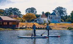 Stand Up Paddle Board บนแม่น้ำสะแกกรัง กิจกรรมท่องเที่ยวใหม่ของ จ.อุทัยธานี