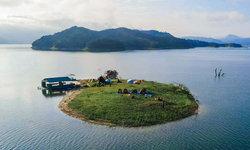 เกาะป๊อปคอร์น จุดกางเต็นท์แห่งใหม่ที่ถูกค้นพบกลางทะเลสาบ ฮาลา-บาลา