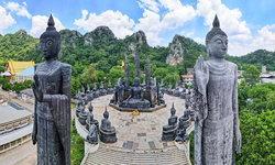 อันซีนวัดถ้ำกระบอก ชมลานพระพุทธรูปทำจากหินลาวาหนึ่งเดียวในเมืองไทย