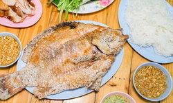 เจ๊กุ้งราชาเมี่ยงปลาเผา ปลาสด ไซซ์ใหญ่ น้ำจิ้มแซ่บ คุ้มราคา