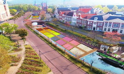 ชมความงามและอลังการของคลองดอกไม้สีรุ้งที่ยาวที่สุดในโลกได้ที่ Huis Ten Bosch