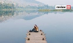 รีวิว Lakeview Cafe กาญจนบุรี บรรยากาศริมทะเลสาบขนาบด้วยขุนเขา