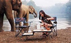 วังโพแคมป์ปิ้ง จุดกางเต็นท์ริมน้ำ ชมน้องช้างเล่นน้ำแบบใกล้ชิด