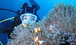 'แนนนี่' ขอพักดื่มด่ำความงามใต้ท้องทะเลไทย หมู่เกาะสิมิลัน