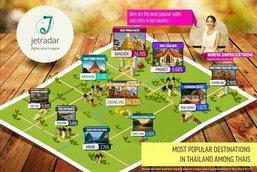 จุดหมายปลายทางยอดนิยมในประเทศไทย โดย JetRadar Thailand