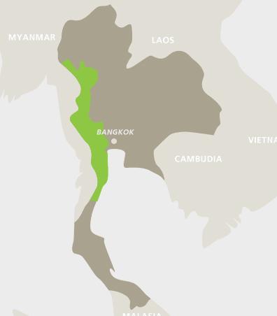 แผนที่กาญจนบุรี