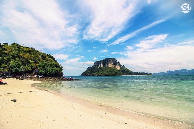 ทะเลแหวกเกาะทับ เกาะหม้อ ที่เที่ยวกระบี่