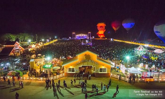 รับลมหนาว เที่ยวฟาร์มเฟสฯ จัดเต็มคอนเสิร์ตใหญ่ ท่ามกลางขุนเขา ณ สิงห์ปาร์คเชียงราย