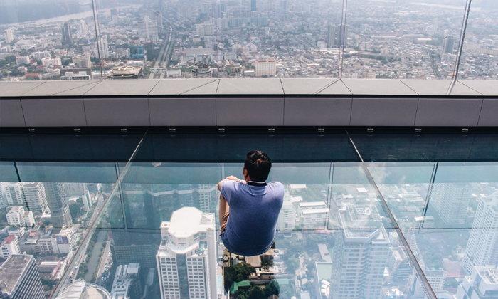 """""""มหานคร สกายวอล์ค"""" จุดชมวิวลอยฟ้าที่สูงที่สุดในเมืองไทย @ คิง เพาเวอร์ มหานคร"""
